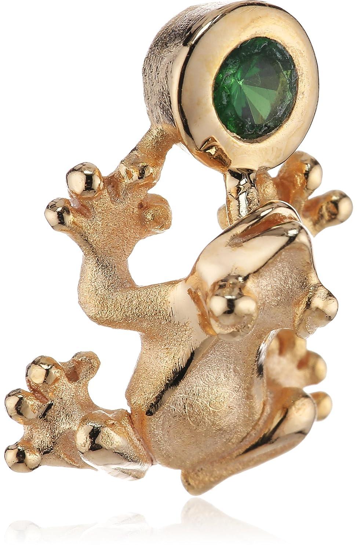 Drachenfels Damen-Anhänger Giftfrosch mit 1 Tsavorit- Frosch Mini 925 Silber rotgoldplattiert D GFR 38-5/RG günstig online kaufen