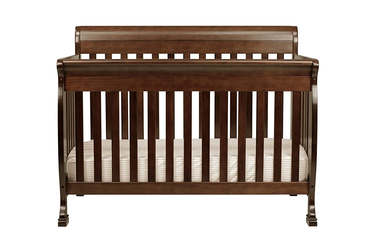 DaVinci Kalani 4-in-1 Convertible Crib with Toddler Rail, Espresso 1