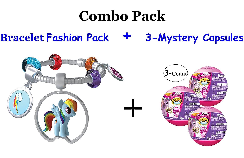 My Little Pony Squishy Pops Charm Bracelet Fashion Pack and Mystery Charm Bundle - 3 Mystery Capsules + 1 Fashion Pack (Fashion Pack Contains: 1- Charm Bracelet, 1- Squishy Pop Pony, 1- Pony Medallion Hanger, 1- Cutie Charm, and 1- Gem Charm + 3 Random M цена и фото