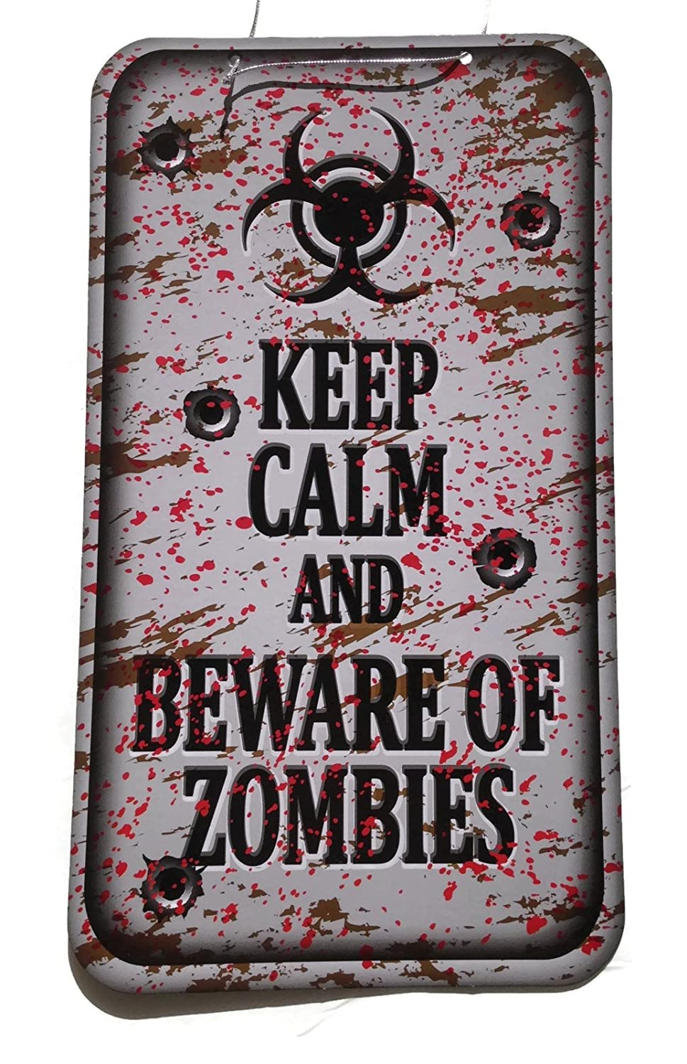 Post-Apocalyptic gift: Beware of Zombies sign
