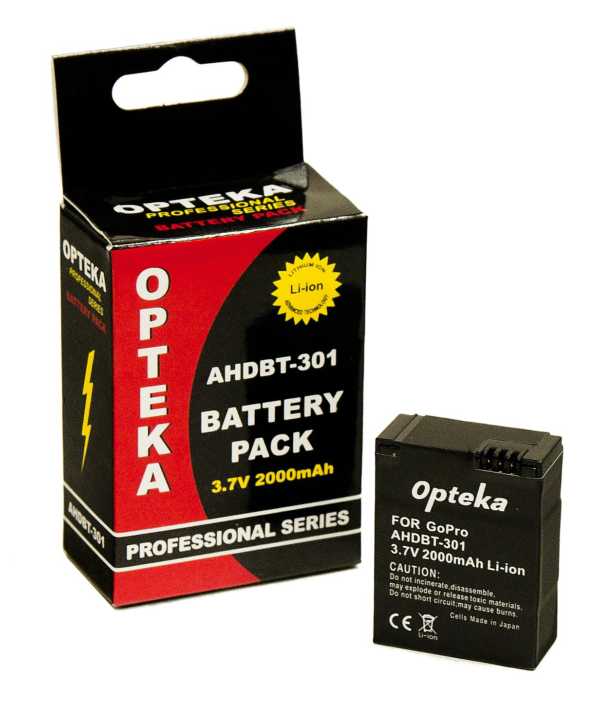 Opteka 2000mAh 3.7V AHDBT-301 Battery Pack for GoPro Hero 3 3+