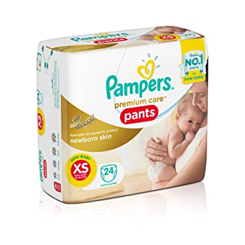Image result for Pampers Extra Small Size Premium New Born Care Diaper Pants (24 Count)