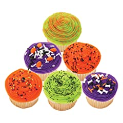 Halloween Sprinkles - Set of 6 Containers total Net Wt 8.68 oz.