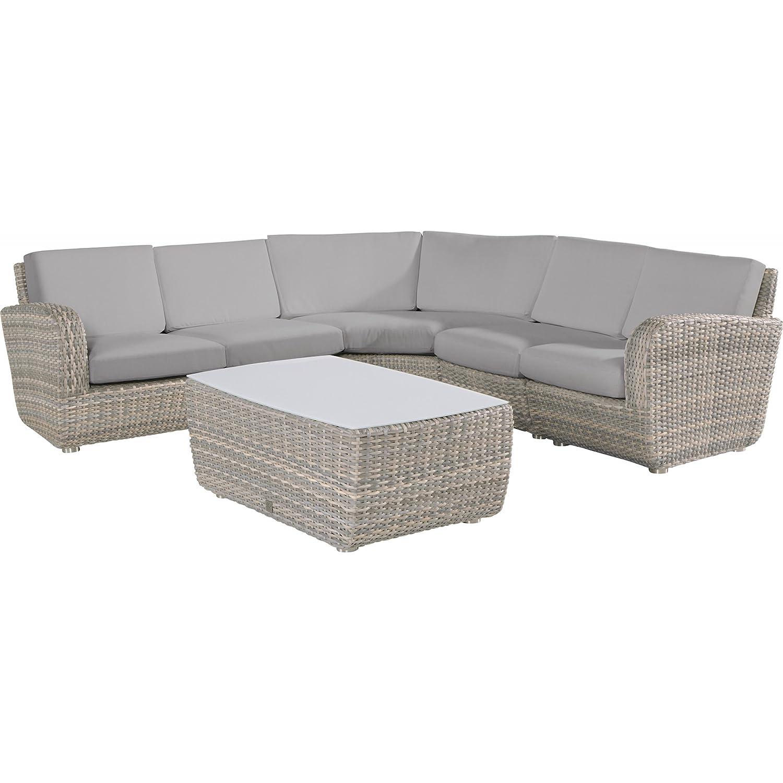 4Seasons Outdoor Lounge-Sitzgruppe Barbados 6-teilig inkl Tisch Polyrattan lagun günstig kaufen