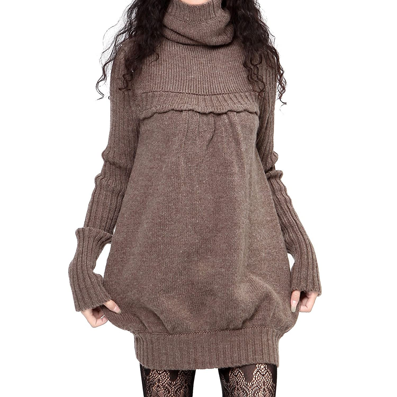 Amazon.co.jp: (アートカー)Artka オリジナルデザイン レディーズウール混プルオーバー ブラウン フリーサイズ: 服&ファッション小物通販