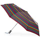 totes Titan Automatic Open Close Windproof & Water-Resistant Foldable Umbrella, Hue Stripe (Color: Hue Stripe, Tamaño: One Size)