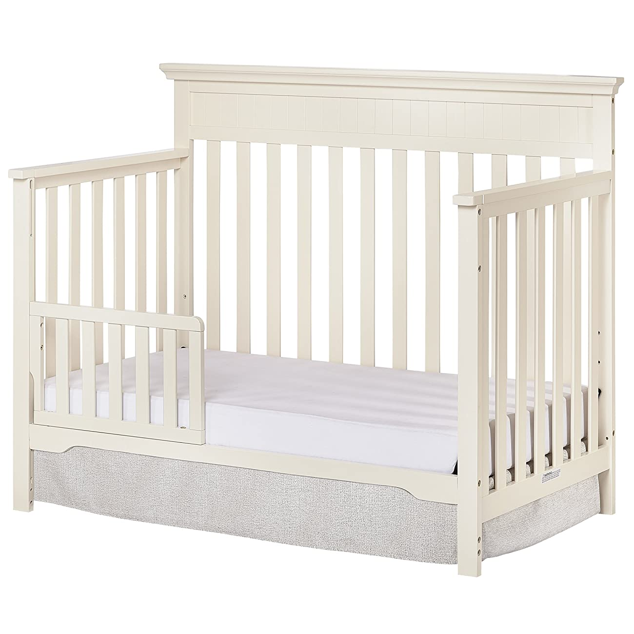 Dream On Me Chesapeake 5-In-1 Convertible Crib, French White 3