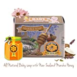 Memoir All Natural Baby Soap - New Zealand Manuka Honey, Lavender Essential Oil, Probiotic, Great for Atopic Dermatitis, Eczema, Psoriasis, Itchy, Dry & Sensitive Skin - Body Wash, Shampoo - 4oz