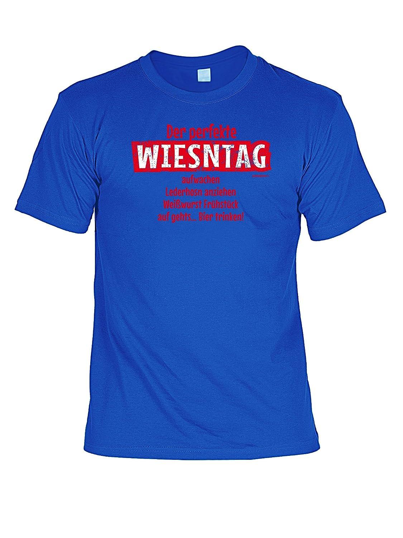 Volksfest T-Shirt Der perfekte Wiesntag Wiesn 2015 Tracht T-Shirt zur Lederhosn Volksfest Trachten Outfit Farbe: royal-blau jetzt kaufen