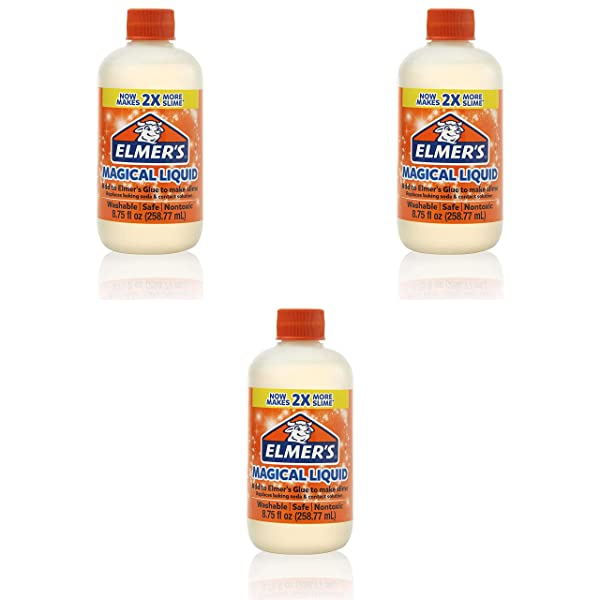 Elmer's Slime Activator | Magical Liquid Slime Activator Solution, Updated Formula for Twice as Much Slime, (8.75 fl oz) Pack of 3