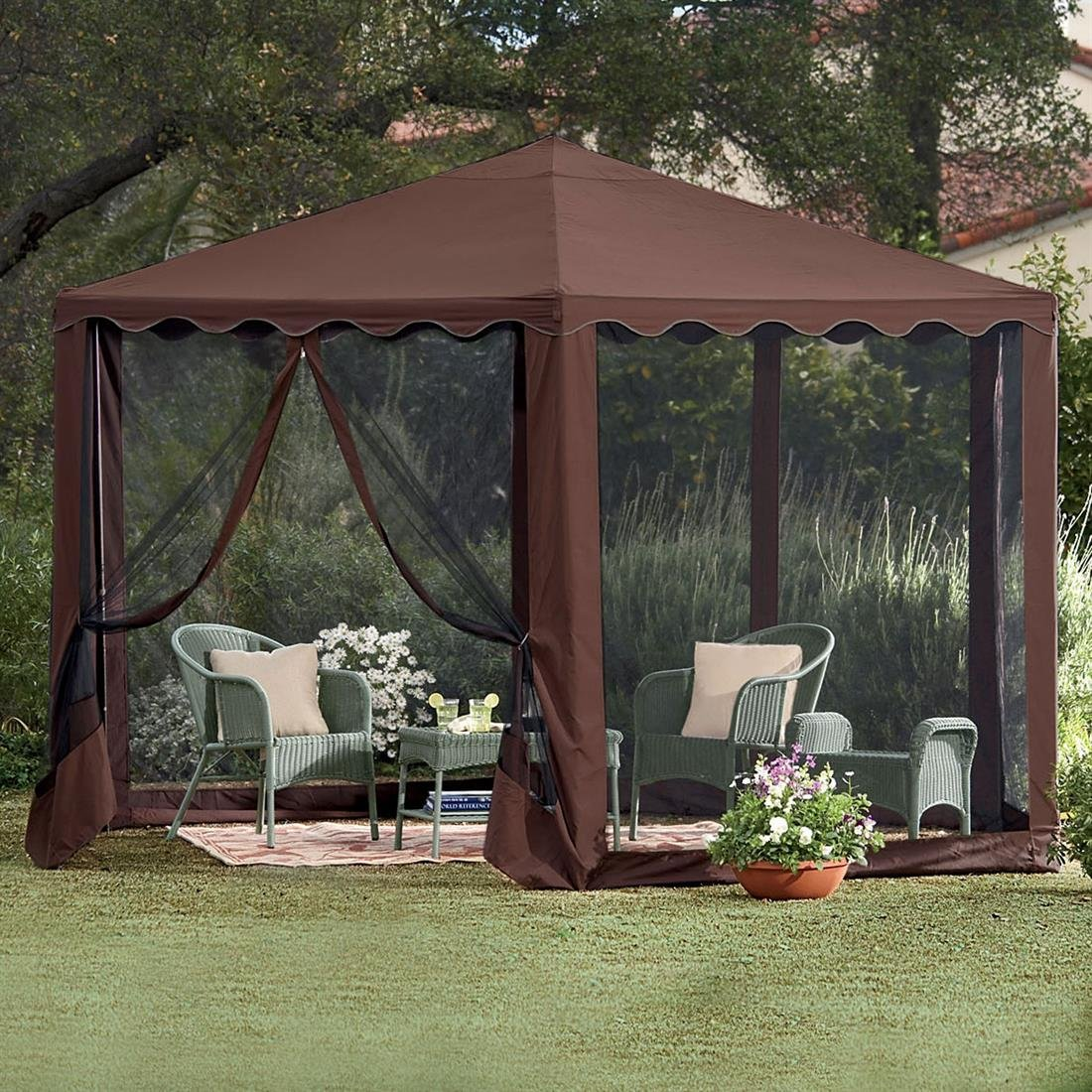Gazebo canopy patio tent outdoor furniture deck frame for Outdoor furniture gazebo