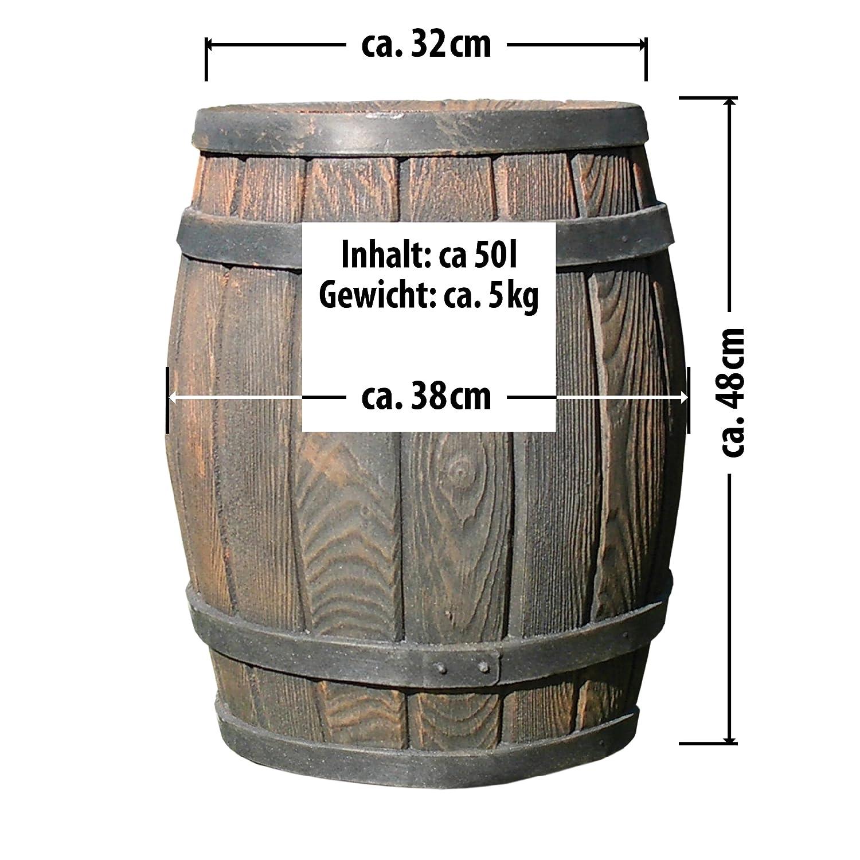 Regentonne Eichenfass, 50l, Fass, holzoptik von Amur