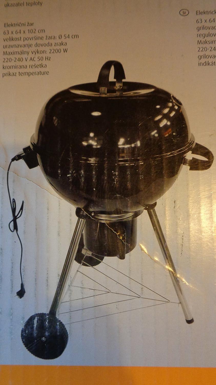 Großer Elektro-Kugel-Grill mit Deckel ø 54 cm jetzt kaufen