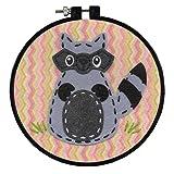 Dimensions Arts and Crafts Little Raccoon Felt Applique Kit, 6' D