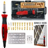 Wood Burning Kit 21 PCS Tools Set. Professional Pyrography Kit – Woodburning Pen, Embossing, Carving, Soldering Tips, Hot Knife, Stencil, Stand, Carrying case ?Bonus E-Book? Arts and Crafting Supplies