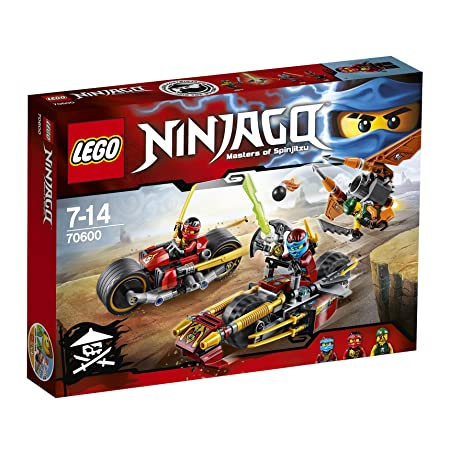 LEGO - 70600 - NINJAGO - Jeu de Construction - La poursuite en moto des Ninja