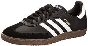 adidas Originals Samba, Baskets mode homme, Noir/Blanc/Gomme, 43 1/3   Commentaires en ligne plus informations