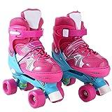 WeSkate Adjustable Kids Roller Skates PVC Wheel Triple Lock Mesh Breathable Inline Skates For Beginners/Toddlers/Children/Boys/Girls