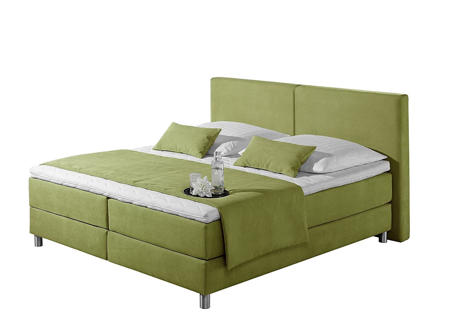 Maintal Betten 237405-4173 Boxspringbett Metropol 180 x 200 cm, Strukturstoff lemon