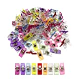 Pack of 100 Multipurpose Sewing Clips Wonder Clips Assorted Colors for Sewing Craft Clamps Crafting Crochet Knitting Quilting Crafting Blinder Clips