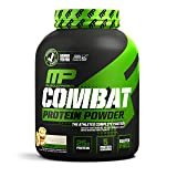 MusclePharm Combat Protein Powder, Essential Whey Protein Powder, Isolate Whey Protein, Casein and Egg Protein with BCAAs and Glutamine for Recovery, Cookies 'N' Cream, 4-Pound, 52 Servings (Color: White/Brown, Tamaño: 4 lb.)