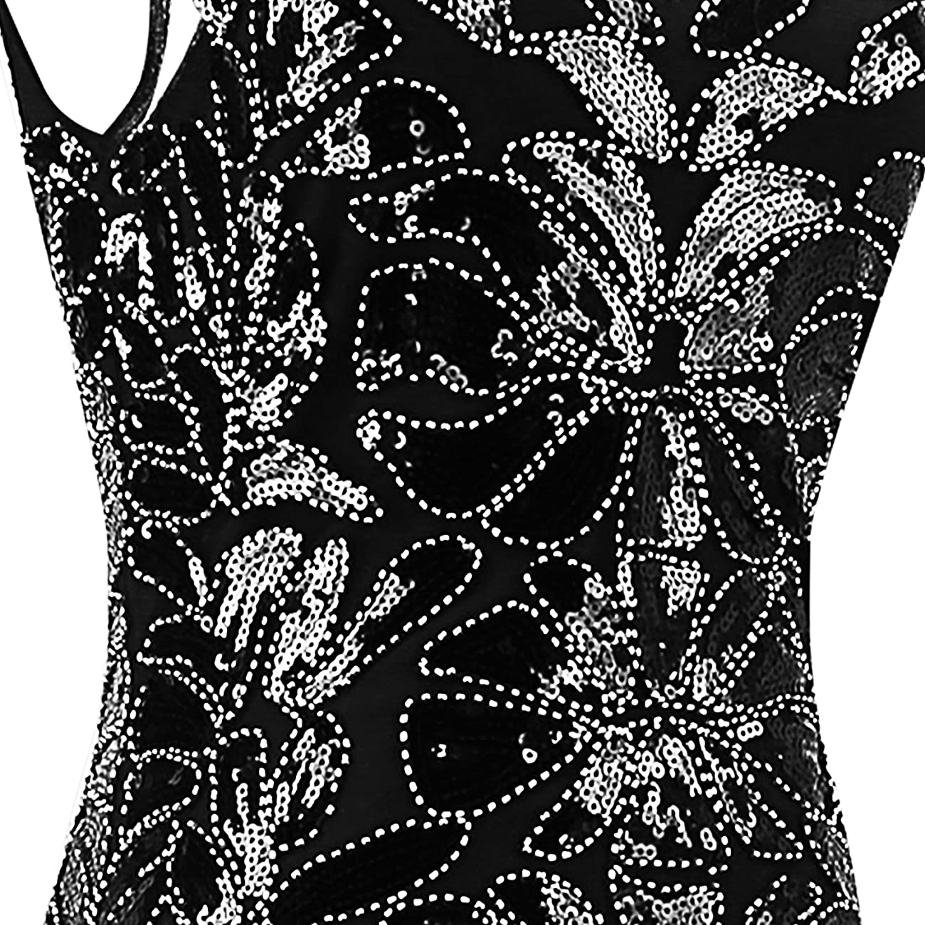Urmine Women's Retro 1920s Gatsby Sequined Beaded Evening Party Prom Cocktail Flapper Dress 4