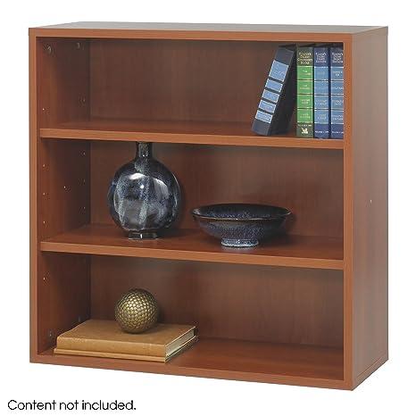 Safco - Libreria aperta modulare in ciliegio Apres