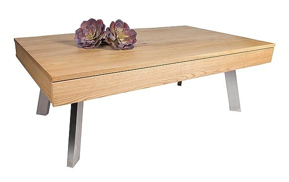 HL Design 01-03-124,1 Melissa-Tavolino basso in legno di rovere selvatica 120,0 x 42,5 x 70,0 cm