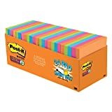 Post-it Super Sticky Notes, Orange, Green, Blue, Pink, Yellow, Sticks and Resticks, Call out Important Information, 3 in. x 3 in, 24 Pads/Pack, (654-24SSAU-CP) (Color: Rio De Janeiro Collection, Tamaño: 3