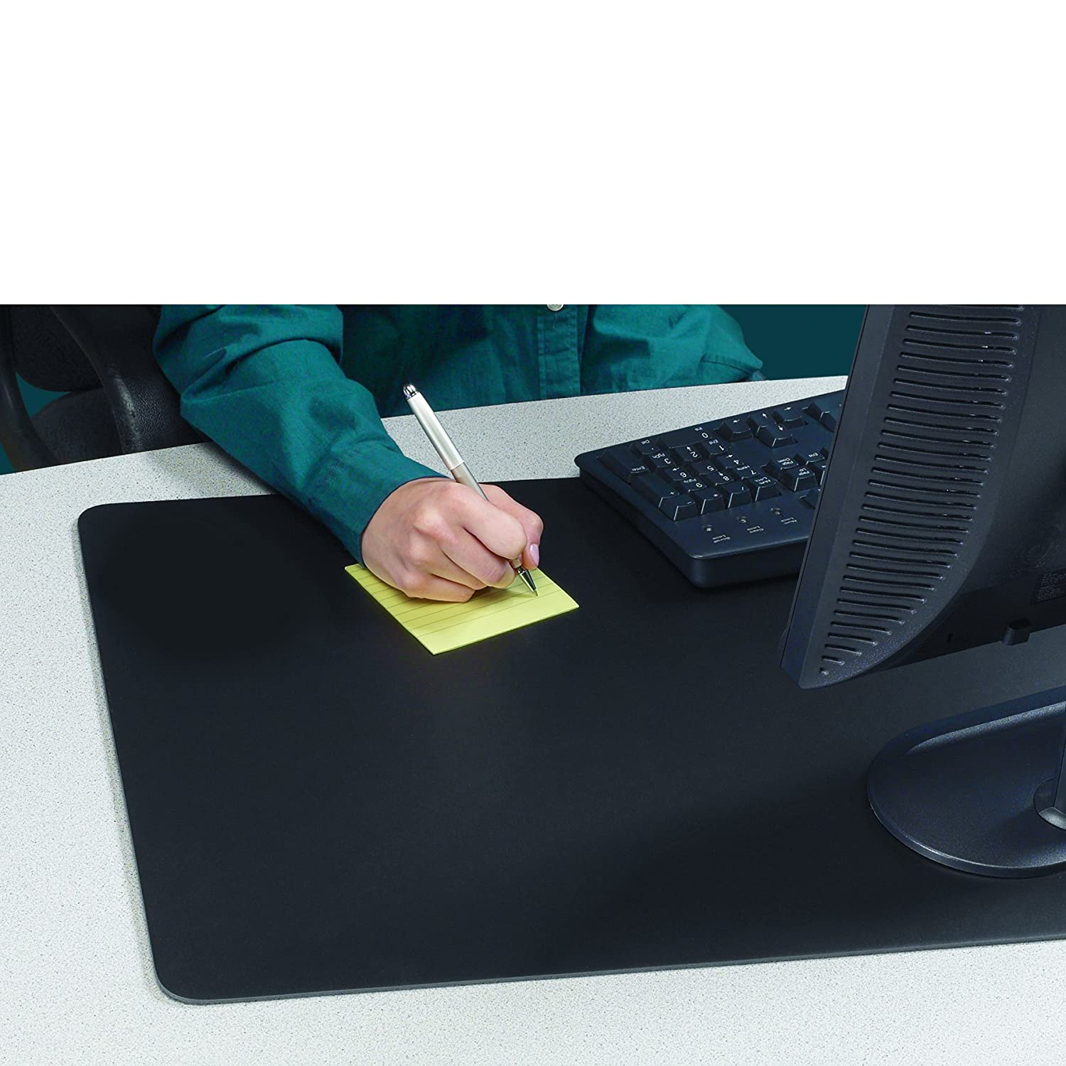 desk writing pad Laylala extra large tpu desk mat/mouse pad/ultra-smooth writing pad/desk protector/protective table organizer for desktops and laptops, 275 x 177 (black).