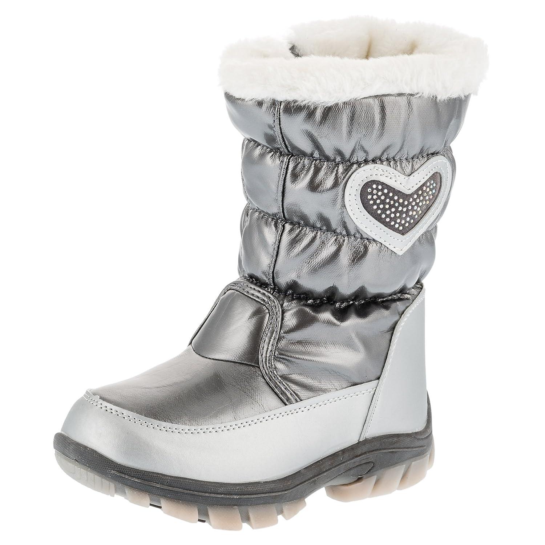 Warmer Grauer Mädchen Stiefel m. Herz #791 jetzt bestellen