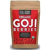 Organic Goji Berries - 8oz Resealable Bag - 100% Raw From Ningxia - by Feel Good Organics