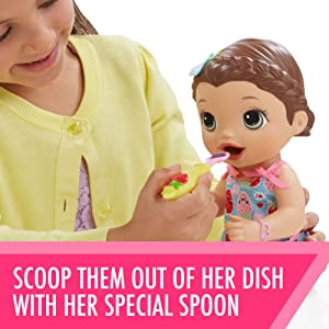 Amazon Exclusive Brunette Baby Alive Super Snacks Snackin/' Lily