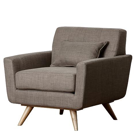 Abbyson Living Paisley Khaki Tufted Fabric Armchair