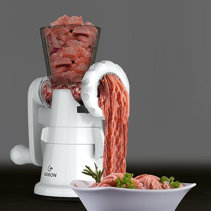 Gideon Hand Crank Manual Meat Grinder Via Amazon