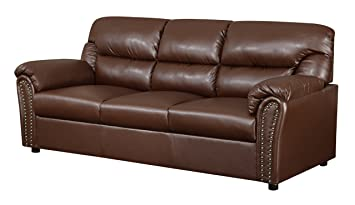 Glory Furniture G260-S Living Room Sofa, Brown