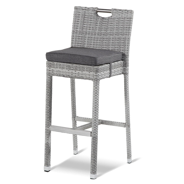 hartman montego barhocker mit kissen polyrattan royal grey. Black Bedroom Furniture Sets. Home Design Ideas