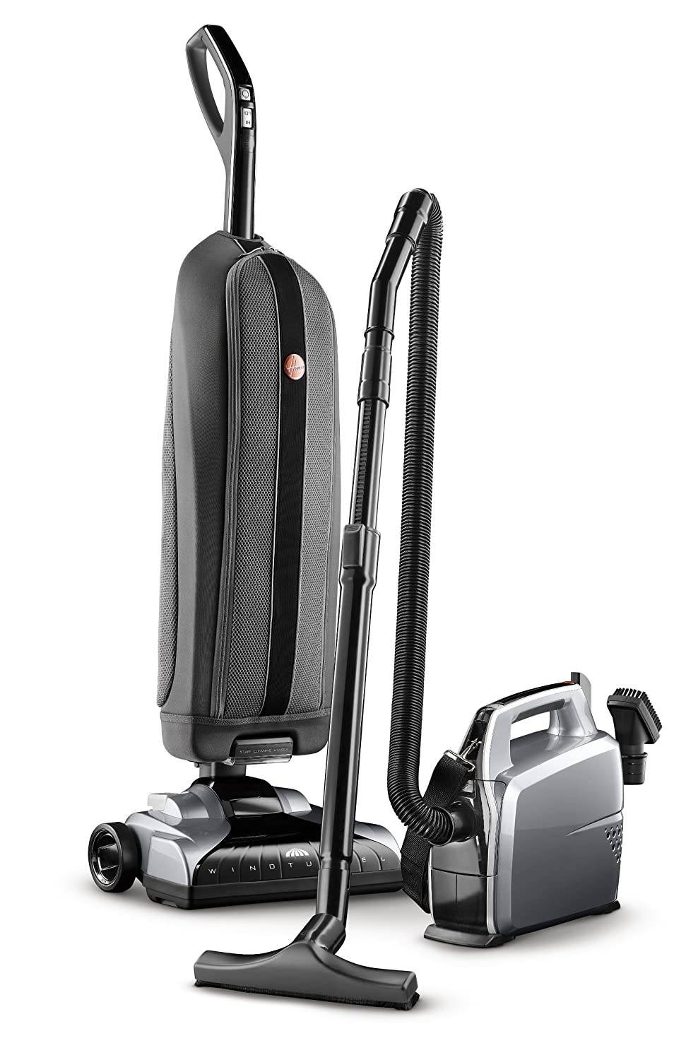 Best vacuum for hardwood and carpet - Hoover Platinum Lightweight Upright Vacuum With Canister Bagged