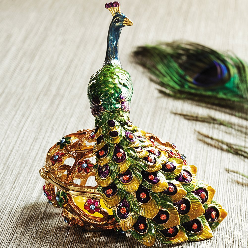 Smithsonian Art Nouveau Peacock Trinket Box