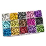 Summer-Ray SS16 4mm Assorted Color Hot Fix Rhinestuds in Storage Box (Color: Multi, Tamaño: SS16)