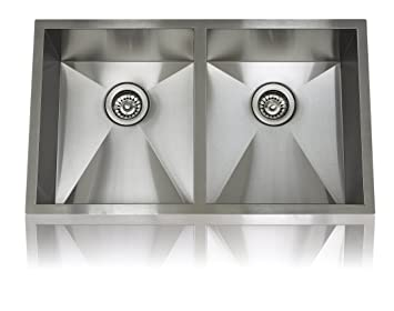 Lenova SS-0Ri-D3 Zero Radius Stainless Steel Equal Double Bowl Undermount Kitchen Sink