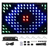 30 Patterns DMX Video Curtain Screen Led RGB Stage Wedding DJ Backdrop 8CH with SD and Controller Fire Retardant for Birthday, Party, Christmas, Club, Show (3x3m; Size Customizable) (Tamaño: 3*3)