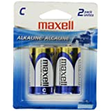 Maxell 723320 Alkaline Battery C Cell 2-Pack