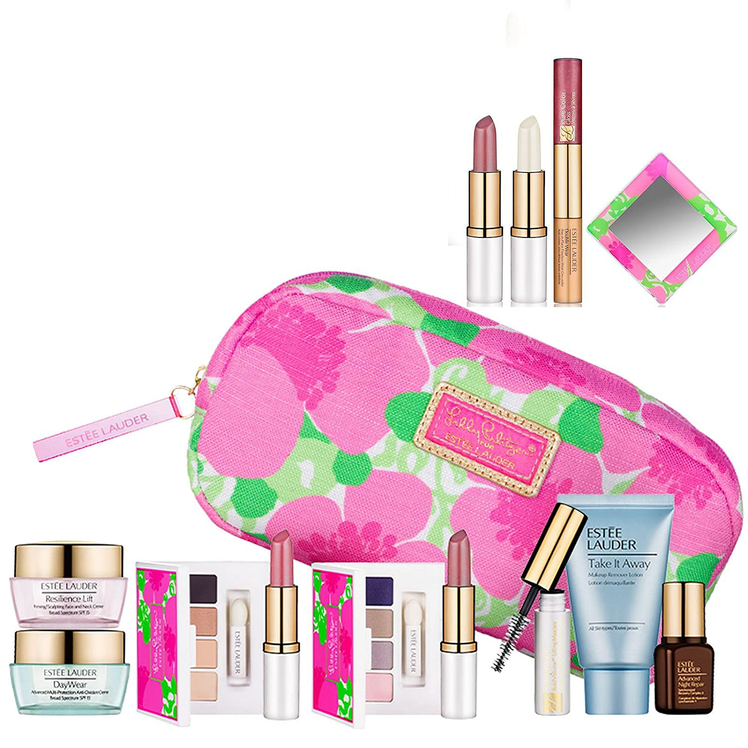 New-Estee-Lauder-Spring-10pc-Skincare-Makeup-Gift-Set-170-Value-with-Cosmetic-Bag-Macy-s-Exclusive