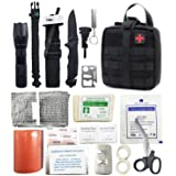 Survival Kit First Aid Kit Molle Pouch Trauma Bag Tactical IFAK Pouch for Camping Boating Hunting Hiking Home Car and Adventure (Color: Black, Tamaño: One Size)