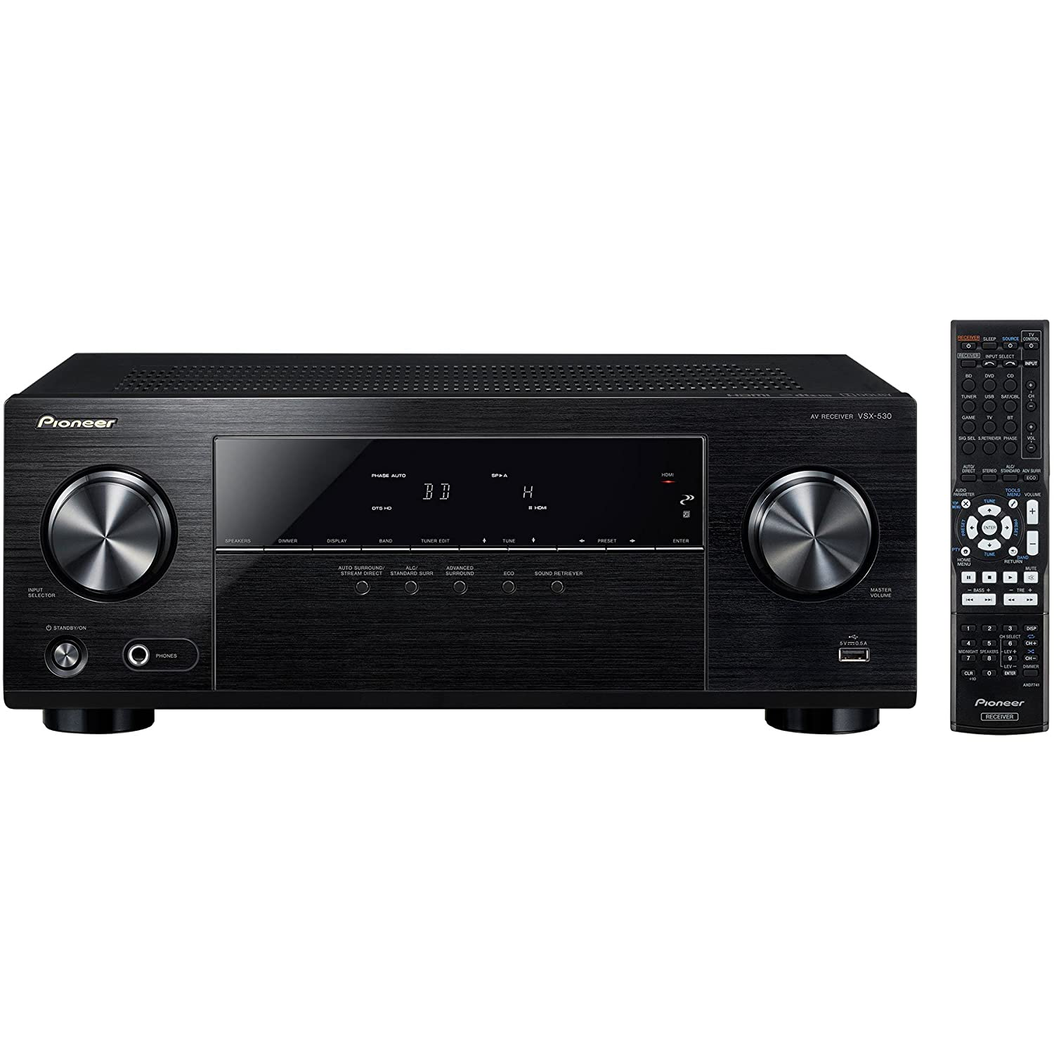 Pioneer VSX-530-K 5.1 Channel AV Receiver with Dolby True HD & Built-In Bluetooth Wireless Technology