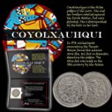 Coyolxauhqui: The Aztec Moon Goddess Coin of Mexico in Folder with Certificate of Authenticity - 1982 Mexico 50 Pesos