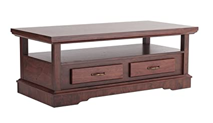 Furniture of America Zotti Coffee Table with Drawers, Vintage Walnut