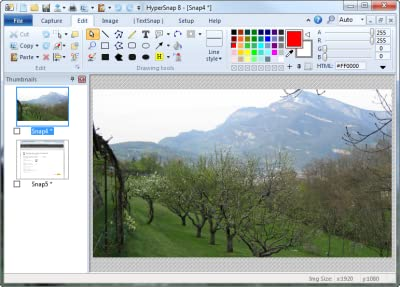 HyperSnap screen capture and image editor [Download]