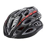 Gonex Adult Bike Helmet, Cycling Road Helmet with Safety Light, Adjustable 58-62cm, 24 Integrated Flow Vents(Black)
